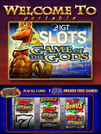 IGT Slots Game of the Gods portable
