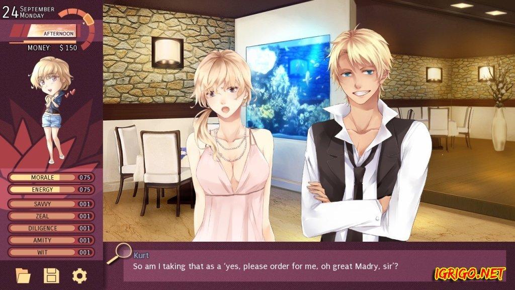 Anime dating sim english